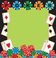 poker party gambling invitation vector image vector image