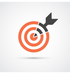 Target icon for business or sport vector image