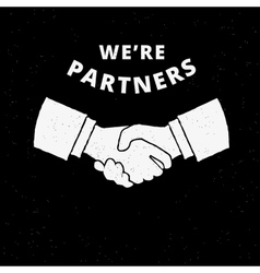 Two business partners handshake vector image