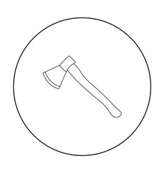 axe icon outline single weapon icon from the big vector image vector image