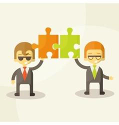 business man team work vector image