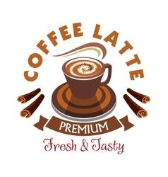 Coffee Latte label Premium fresh and tasty vector image vector image