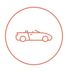 Convertible car line icon vector image vector image