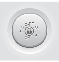 Cyber Security Icon Flat Design vector image vector image