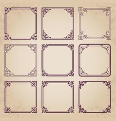 decorative vintage frames vector image vector image