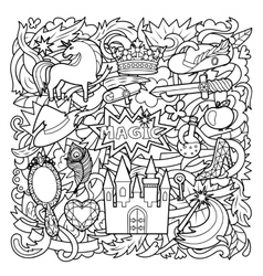 Magic Doodle Cartoon vector image