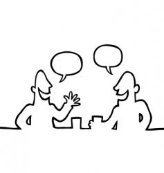 two people having a chat vector image