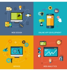 Web Development Set vector image vector image