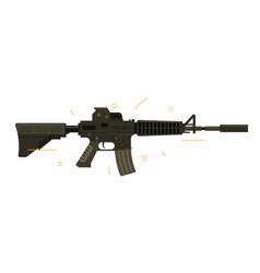 a an assault rifle vector image