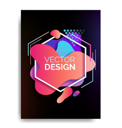 abstract flowing liquid elements poster a4 vector image