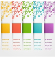 Abstract triangle template banner Color set vector image
