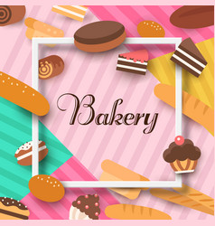 bakery background flat vector image