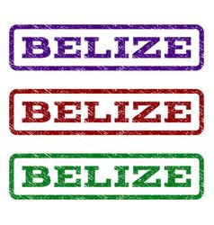 belize watermark stamp vector image