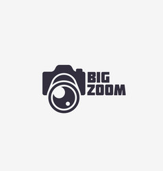 Big zoom logo vector