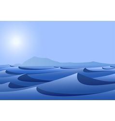 blue desert vector image