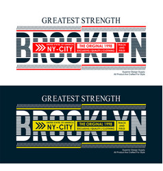 brooklyn united states style for t shirt vector image