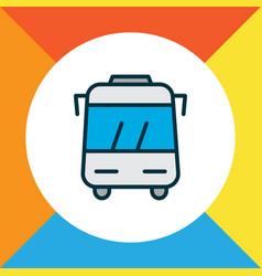 Bus icon colored line symbol premium quality vector