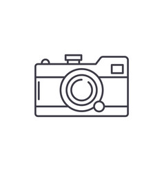 camera line icon concept camera linear vector image