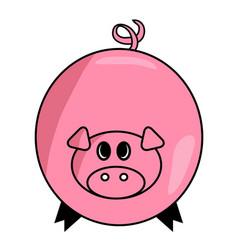 cartoon pig symbol icon design cute animal vector image