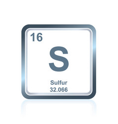 Chemical element sulfur from periodic table vector