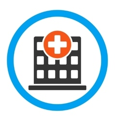 Clinic Rounded Icon vector