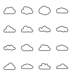 Cloud web icons set simple symbols collection vector