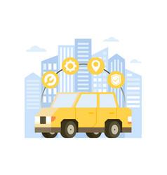 concept online car service vector image