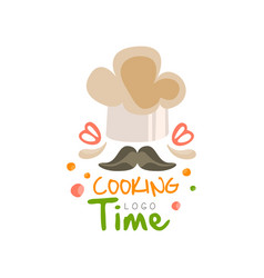 cooking time logo design kitchen emblem can be vector image