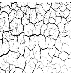 cracked clay ground into the dry season vector image vector image