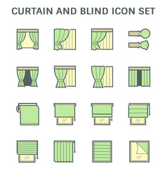 Curtain blind and interior decoration material vector