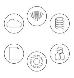 Data center icon set design vector