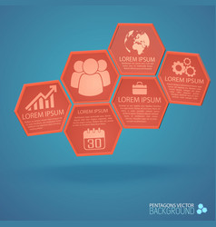 Design from hexagons business infographics vector