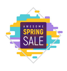 dynamic pixel spring sale template vector image
