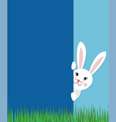 Easter greeting card concept with text cute bunny vector