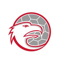 European handball eagle mascot vector
