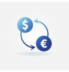 Exchange blue icon vector image