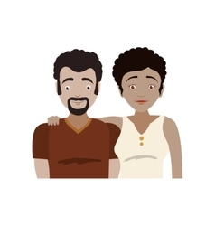 Family couple parents icon graphic vector