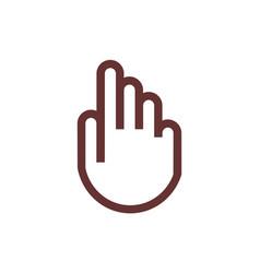 Finger hand logo concept icon vector