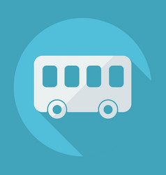 Flat modern design with shadow bus vector