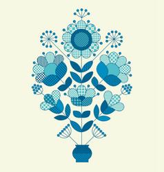 Flower horizontal design element vector