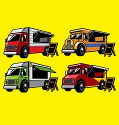 Food truck set vector