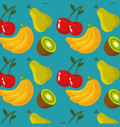 fresh organic fruit background vector image