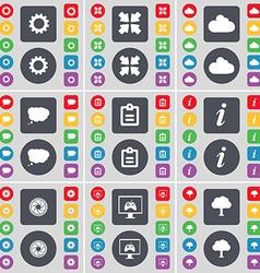 Gear Deploying screen Cloud Chat cloud Survey vector