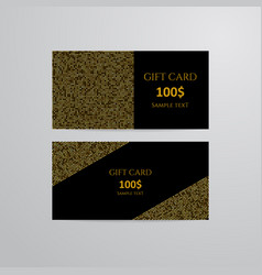 Gift cards with gold vector
