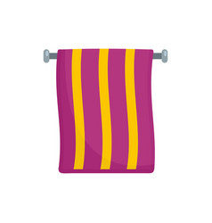 hand towel icon flat style vector image
