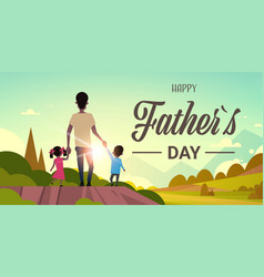 Happy father day african family holiday daughter vector
