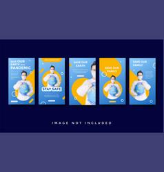 Healthcare medical instagram stories promotion vector