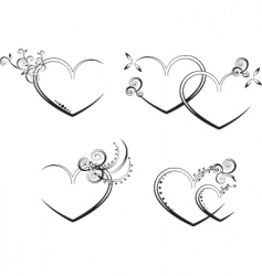 Heart design elements vector