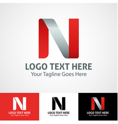 Hi-tech trendy initial icon logo n vector