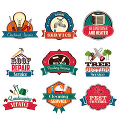 Home repair service icons vector